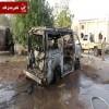 مصدر محلي يكشف حقيقة الحافلة المحترقة بحادث التفجير بلحج