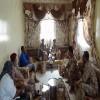 رئيس هيئة العمليات المشتركة وعدد من القادة يزورون اسرة اللواء محمود الصبيحي بمنطقة خرز