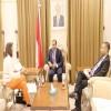 الحضرمي يبحث مع سفيرة بلجيكا سبل تعزيز وتطوير العلاقات الثنائية بين البلدين