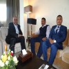 وزير الداخلية احمد الميسري يلتقي سفير النادي الدولي للاعلام الرياضي لدى اليمن