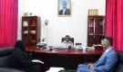 محافظ حضرموت يلتقي قيادة فريق منظمة الهجرة الدولية بالمكلا