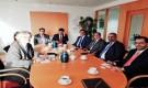 رئيس هيئة المجلس الانتقالي  واعضاء من هيئة الرئاسة يلتقون مبعوث مملكة السويد الى اليمن وليبيا