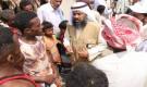 مكتب الشؤون الاجتماعية أبين يستقبل وفد كويتي إغاثي يزور  مخيم النازحين في وادي القرنعة