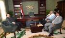 رئيس الجمهورية يشيد بمواقف وتضحيات الجريح علي الاغبري