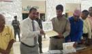 قوات الحزام الامني في لحج تكرم 271 تربوياً ممن اشرفوا على العملية الامتحانية