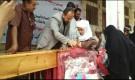 اليزيدي يدشن توزيع بطانيات وملابس شتوية لذوي الاحتياجات الخاصة بمنطقة عمران