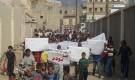 مسيرة غاضبة بلودر رافضة قرار محافظ أبين بتغيير مدير عام لودر الشيخ باهرمز