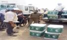 مركز الملك سلمان للإغاثة يوزع 153 كرتونا من السلال الغذائية في محافظة سقطرى