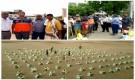 مؤسسة شباب أبين تدشن مشروع توزيع السلل الغذائية للنازحين في محافظة أبين