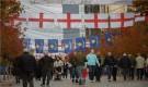 استقبال تاريخي لسترلينج ومنتخب إنجلترا في كوسوفو
