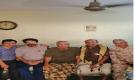 ضباط جنوبيون يزورون المناضل اللواء أحمد سالم عبيد