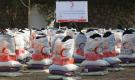 200 أسرة تستفيد من السلل الغذائية والحقائب المدرسية للهلال الأحمر التركي بلحج