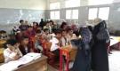 مدرسة النهضة بمديرية المقاطرة تستقبل فريق التوعية الخاص بمنظمة كير الدولية لتنفيذ انشطة صحية للطلاب