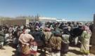 ضباط وجنود قوات الأمن الخاصة بشبوة يتظاهرون للمطالبة بصرف راتب شهر اكتوبر الموقوف.