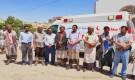 محافظ شبوة يشرف على عملية تسليم سيارة اطفاء لمطار عتق وسيارة إسعاف لمستشفى عرماء