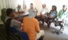 مدير عام احور يجتمع بأعضاء لجنة حصر الاضرار التي خلفتها السيول في المديرية