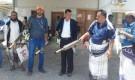 المدير العام ومدير الصحة رضوم شبوة يدشنان حملة الرش الضبابي في بئر علي
