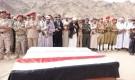 محافظ شبوة يشهد التشييع الرسمي والشعبي لشهيد الواجب قائد اللواء 153 مشاة العميد محمد صالح العقيلي :