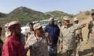 لحج : قائد المنطقة العسكرية الرابعة يزور جبهات القتال بمديرتي القبيطة وحيفان
