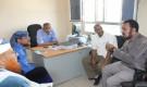 مدير تربية لحج يناقش مع القائم بأعمال وكيل الوزارة ومدير عام الإختبارات شهادات الطلاب المتأخرة.