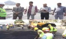وكيل محافظة عدن يدشن اعمال سفلتت طريق كود النمر - الخيسة بقيمة 480 الف دولار