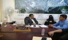 مدير عام المنصورة يلتقي بنائب مدير مؤسسةالمياه