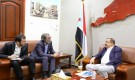 اللواء بن بريك يستقبل مدير مكتب المبعـوث الأممي في عدن
