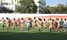 فريق التلال يجري حصته التدريبية على ملعب الحبيشي قبل مواجهة الوحدة.