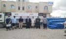 شركة النفط بشبوة تسلم مركز العزل 400 اسطوانة اكسجين