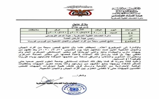 كورونا يصل إلى جبهات القتال ويصيب 7 من مقاتلي الحوثي