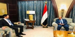 البركاني يلتقي القائم بأعمال السفارة البريطانية لدى اليمن