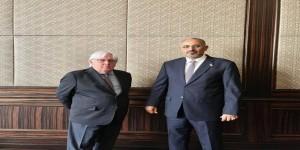 اللواء عيدروس الزُبيدي يلتقي مبعوث الأمين العام للأمم المتحدة