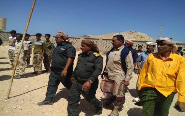 مدير عام شرطة محافظة سقطرى في زيارة تفقدية لشرطة مديرية قلنسية وعبدالكوري