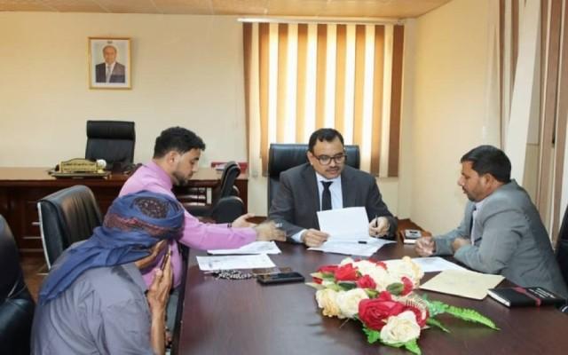 وزير الزراعة والثروة السمكية يلتقي مدراء فروع هيئة المصائد في سقطرى وشبوة