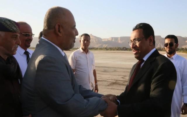 وزير النفط والمعادن يصل إلى سيئون
