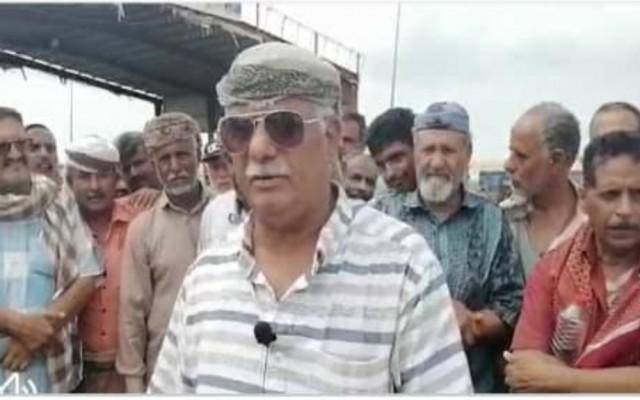 تصريح هام لنائب رئيس هيئة العسكريين الجنوبيين المعتصمين أمام مقر التحالف بعدن